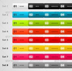 Web navigation menu with 8 different colour scheme - #Navigation Bars Web Elements Download here: https://graphicriver.net/item/web-navigation-menu-with-8-different-colour-scheme/45292?ref=alena994