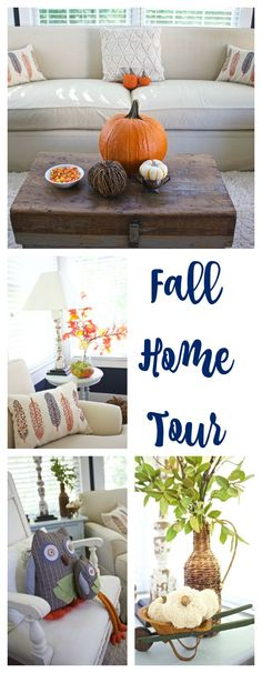 Fall Home Tour - Fall Decor. - 2 Bees in a Pod Diy Craft Projects, Home Projects, Porch Makeover, Fall Diy, Autumn Home, Fall Crafts, Seasonal Decor, House Tours, Diy Home Decor