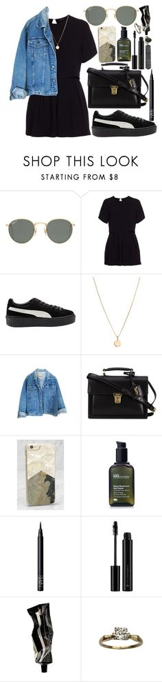 """""""bad production"""" by velvet-ears ❤ liked on Polyvore featuring Ray-Ban, New Look, Puma, Laura Lee, Yves Saint Laurent, Recover, Origins, NARS Cosmetics, Illamasqua and Aesop"""