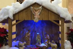 Creche from St. Angela Merici Parish in Fairview Park, OH, 2015 Fairview Park, Catholic School, Painting, Painting Art, Paintings, Painted Canvas, Drawings