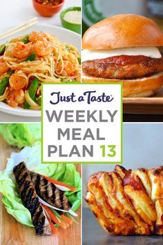 Weekly Meal Plan 13 and Shopping List | recipes via justataste.com