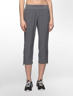 Image for performance shirred bottom pants from Calvin Klein