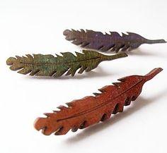 Wooden Feather Brooch - women's jewellery