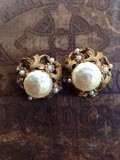 Faux Pearl Earrings by DanasLegacy on Etsy