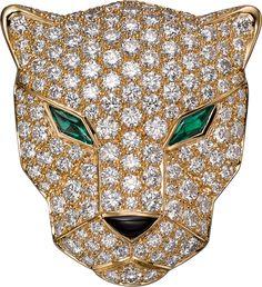 Panthère de Cartier Bag, Chain MailYellow gold, diamonds, emeralds, onyx and black calfskin