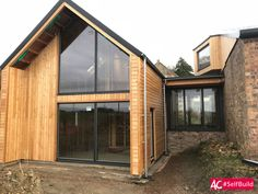 Modern Barn Conversion and Extension in Fife, Scotland Contemporary Barn, Modern Barn, Modern Farmhouse, Barn Conversion Exterior, Barn Conversions, Converted Barn Homes, Build Dream Home, Garage Apartment Plans, Barn Kitchen
