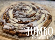 Monster Cinnamon Roll   Moola Saving Mom Moola Saving Mom, Pillsbury Cinnamon Rolls, Baking Sheet, Great Recipes, Icing, Biscuits, Healthy Eating, Homemade, Cooking