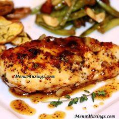 Menu Musings of a Modern American Mom: Maple-Mustard Glazed Chicken
