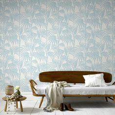 Honolulu Palm Green Wallpaper - GrahamBrownUK