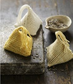 Announcing: More Last-Minute Knitted Gifts! - The Purl Bee - Knitting Crochet Sewing Embroidery Crafts Patterns and Ideas! Purl Bee, Yarn Projects, Knitting Projects, Crochet Projects, Lavender Bags, Lavender Sachets, Scented Sachets, Mode Crochet, Knit Or Crochet