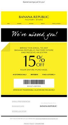 banana republic  re-engagement email