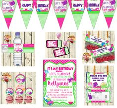 Printable Birthday Slumber party party pack/ sleep over/ pajama party invitation/water bottle label by PartyPaloozza on Etsy