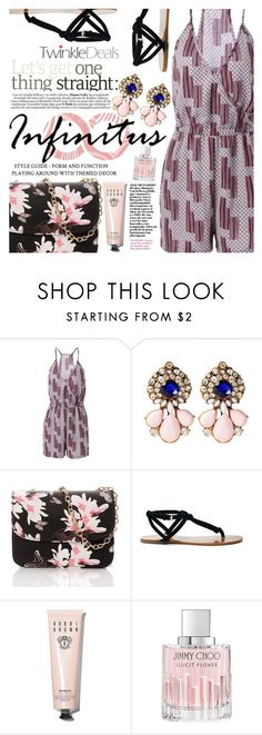 """""""Pale Pink and Black"""" by vanjazivadinovic ❤ liked on Polyvore featuring Sole Society, Bobbi Brown Cosmetics, Jimmy Choo, vintage, polyvoreeditorial and twinkledeals"""