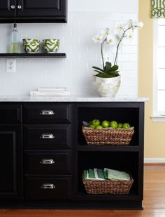 Chic black kitchens: http://www.stylemepretty.com/collection/2667/
