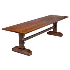 French 19th Century Solid Oak Monastery Table 1