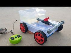How to Make a Floor Cleaning Machine - Remote Controlled - YouTube
