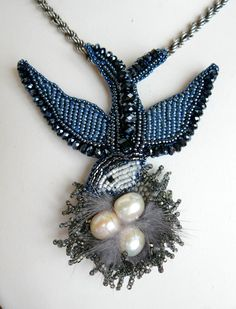 Beautiful jewelry by Natalia Bessonova Click on link to see more photos - http://beadsmagic.com/?p=5648