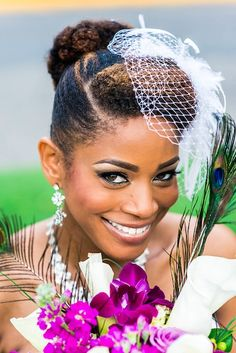 Click the image to get the details on Raquel's wedding hair