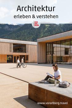 Tipps für geführte Architekturbesichtigungen in Vorarlberg, die neue Blickwinkel und Sichtweisen öffnen. Auf die zeitgenössische Vorarlberger Architektur ebenso wie auf traditionelle Bauten. Experten erklären das gestalterische Konzept, gehen auf die verwendeten Materialien ein und auf Spezifika des jeweiligen Standortes. Architektur ganz einfach erleben & verstehen. Concept, Places, Architecture, Simple, Tips