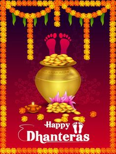 Illustration about Vector illustration of Gold Kalash with decorated diya for Happy Dhanteras Diwali festival holiday celebration of India greeting background. Illustration of greeting, diya, holiday - 129712945 Happy Choti Diwali Images, Happy Diwali Wishes Images, Diwali Wishes Quotes, Happy Diwali Quotes, Diwali Greetings, Happy Diwali Images Download, Happy Diwali Images Wallpapers, Happy Diwali Status, Happy Diwali 2019