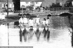 Gomshall, Girls Paddling In The River 1904. From The Francis Frith Collection, a privately-owned archive of over 130,000 photographs of Britain from 1860-1970 that you can browse online for free anytime. #francisfrith #photography #nostalgia
