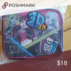 Monster High 3D Girls Insulated Lunchbox NWT Excellent condition Monster High  Accessories Bags