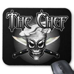 Cool Skull Chef mousepad