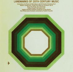Landmarks of 20th Century Music / Designer unknown / 1960s