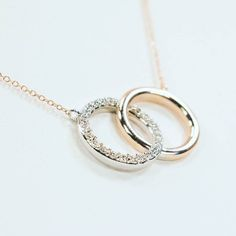Rose gold white gold and diamonds. It's really all you need in a necklace.  #necklace #rosegold #whitegold #diamonds #buckscounty #doylestown