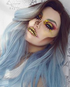 WEBSTA @ bangtsikitsiki - ♥ T i l l D e a t h D o U s P a r t ♥Look inspired by these two amazing talents and their beautiful skull art♡@myopulence♡@the_wigs_and_makeup_manager○DETAILS⬇○▪HAIR》@powderroomd 'Snow Angel lace front'#powderroomd▪FACE》@yvesrochernordic Zéro Défaut Flawless Skin foundation@maybelline FitMe concealer@nyxcosmetics HD Studio finishing powder@nyxcosmetics Love Contours All - Contour shades@nyxcosmetics Strobe of Genius Illuminating palette - Gold@nyxcosmeticsnordics…