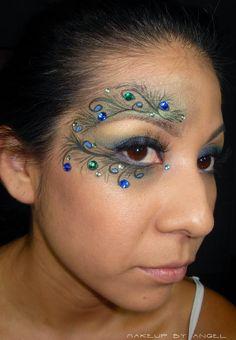 Makeup by Angel: Halloween Peacock: Costume Look 1