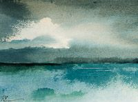Watercolour, acrylic and ink on paper (275mm x 175mm) Rhod Evans