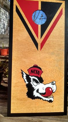 NCSU custom cornhole boards game