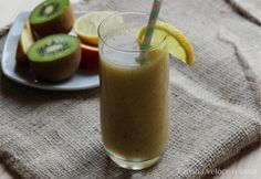 Frullato disintossicante kiwi, mela e finocchio