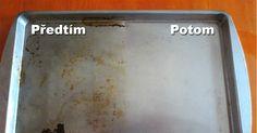 Domácí čistící pasta na hrnce, pánve, plechy Russian Recipes, Sheet Pan, Cleaning, Kitchen, Ideas, Springform Pan, Baking Center, Cooking, Kitchens