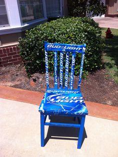 Bud Light Decoupage Chair