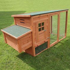 Large Chicken Coop & Run Hen House