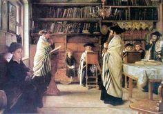 The New Year, Rosh Hashanah, painting by Isidor Kaufmann (1853 – 1921, Austrian)
