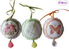 Boules de tissu décorative à coudre