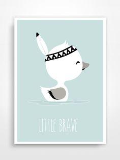 Affiche déco pour chambre d'enfant * Little Brave. : Décoration pour enfants par pagaille-et-cie