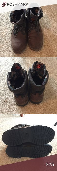 Timberland roll-top boots Timberland roll-top boots. They are great for winter. Used condition. Few scratches on tips part. Timberland Shoes Ankle Boots & Booties