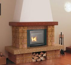 Fireplaces and stoves - Palazzetti Home Fireplace, Fireplace Design, Fireplace Mantels, Fireplaces, Home Goods Decor, Home Decor, Stove, My House, Brick