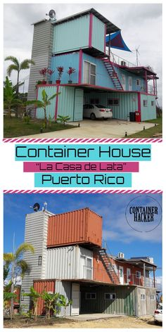 Today we will show you shipping container house from Puerto Rico. Tiny House Shipping Container, Shipping Container Buildings, Container House Design, Shipping Containers, Puerto Rico, Casas Containers, You Are The World, Home Photo, Tiny Homes