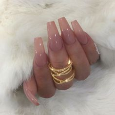 In search for some nail designs and ideas for the nails? Here's our list of 13 must-try coffin acrylic nails for trendy women. Aycrlic Nails, Nude Nails, Hair And Nails, Nails 2016, Glitter Nails, Gorgeous Nails, Pretty Nails, Perfect Nails, Cute Acrylic Nails