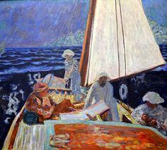 Pierre Bonnard - Signac et ses amis en barque, 1924, Zurich