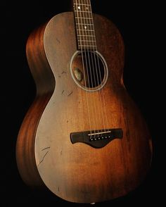 """""""The excellent Ibanez Artwood AVN6. This parlour sized sweetheart is brand new but expertly relic'd…"""""""