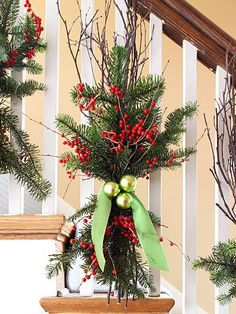 Pine decorations for stairs