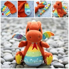 Baby Sock Dragon Free Tutorial