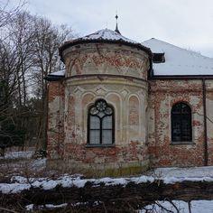 munich   germany   münchen   deutschland   schlosspark nymphenburg   magdalenklause im winter