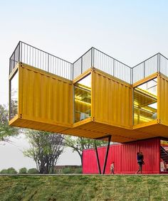 Container Architecture, Architecture Design, Container Buildings, Pavilion Architecture, Architecture Office, Sustainable Architecture, Shipping Container Office, Shipping Container Design, Shipping Containers For Sale